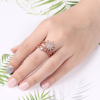 Anillo apilable Star Moon