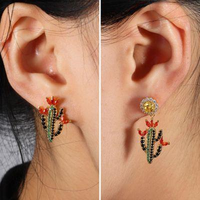 Pendientes Cactus Multicolor