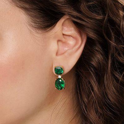 Verde Grande De Piedras Preciosas Cuelgan