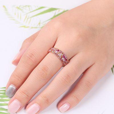 Anillo Circonita Cristal Rosa