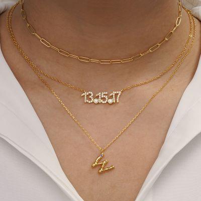 Collar Bambú Letra W