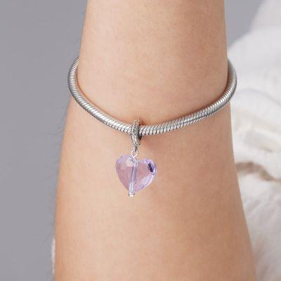 Colgante Púrpura del Corazón de Cristal