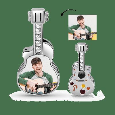 Encanto Personalizado con Foto de Guitarra