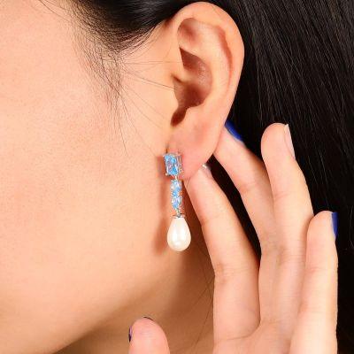 Blue Pearl Gems Cuelgan