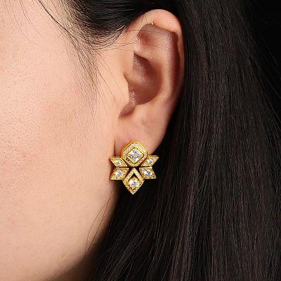Pendientes Diamante Hexagrama