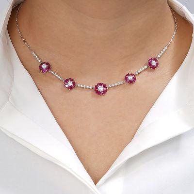 Collar Florecilla Roja