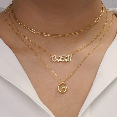 Collar Bambú Letra G