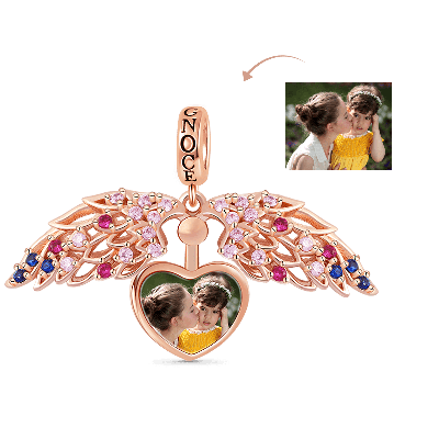 Charm De Foto Personalizado De Corazón