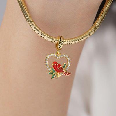 Bird in Heart Pendant