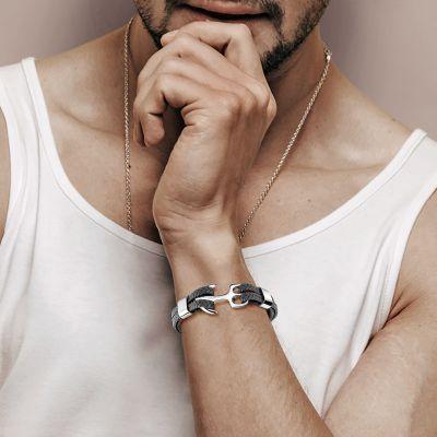 Gray Anchor Bracelet