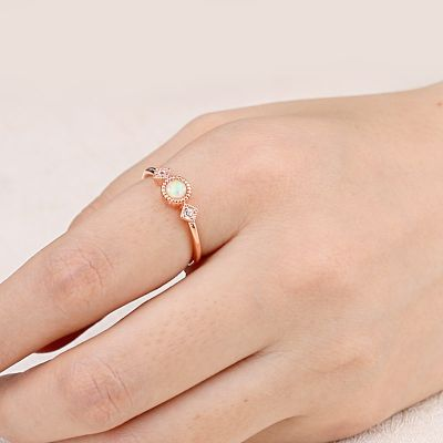 Anillo Opal Star Moon