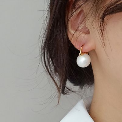 Pendientes colgantes de perlas