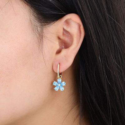 Azul De La Piedra Preciosa Flor Cuelga