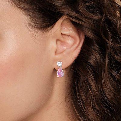 Pendientes En Forma De Lágrima De Color Rosa