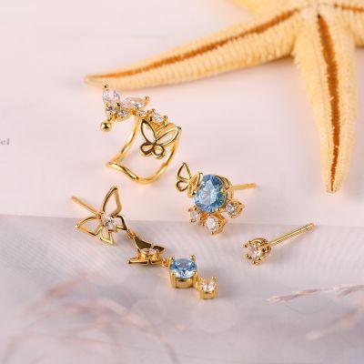Mariposa Earing De 4 Piezas
